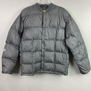 Cabelas Diwn Puffer Jacket Gray Large Tall